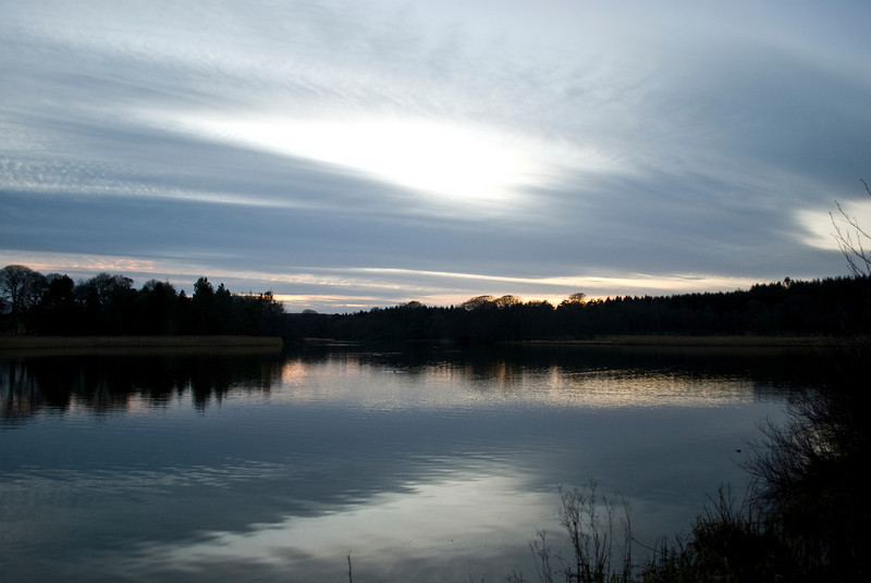 Lake at haddo House in December