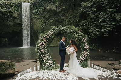 Waterfall Elopement Anniversary of Parth & Dalia in Bali