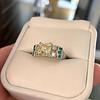 2.10ct Art Deco Peruzzi Cut Diamond Ring, GIA W-X SI2 11