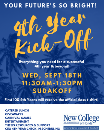 4th-Year Kick-Off poster