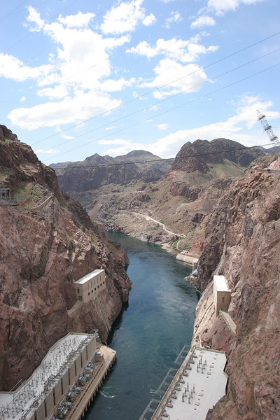 Colorado River below Hoover Dam