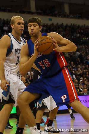 NBA: Detroit Pistons @ Minnesota Timberwolves - 2012/10/24