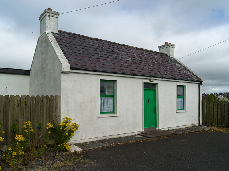 Fa�ade of traditional house, Killala Town, Killala, County Mayo, Republic of Ireland