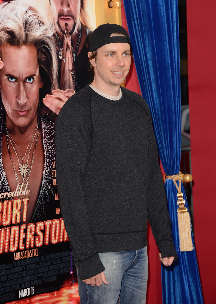 ". Actor Dax Shepard attends the premiere of Warner Bros. Pictures\' ""The Incredible Burt Wonderstone\"" at TCL Chinese Theatre on March 11, 2013 in Hollywood, California.  (Photo by Jason Merritt/Getty Images)"