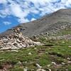 Final rock ascent of Spanish Peak West