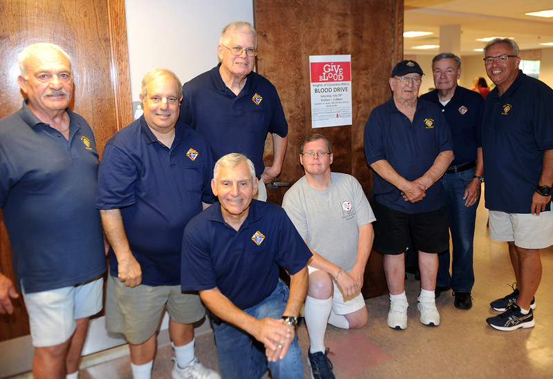 THE SPRING LAKE KNIGHTS OF COLUMBUS HOSTED A BLOOD DRIVE IN BELMAR, NEW JERSEY ON 07/28/2018.(STEVE WEXLER/THE COAST STAR).