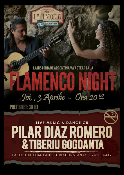 Flamenco Night cu Pilar Diaz Romero si Tiberiu Gogoanta