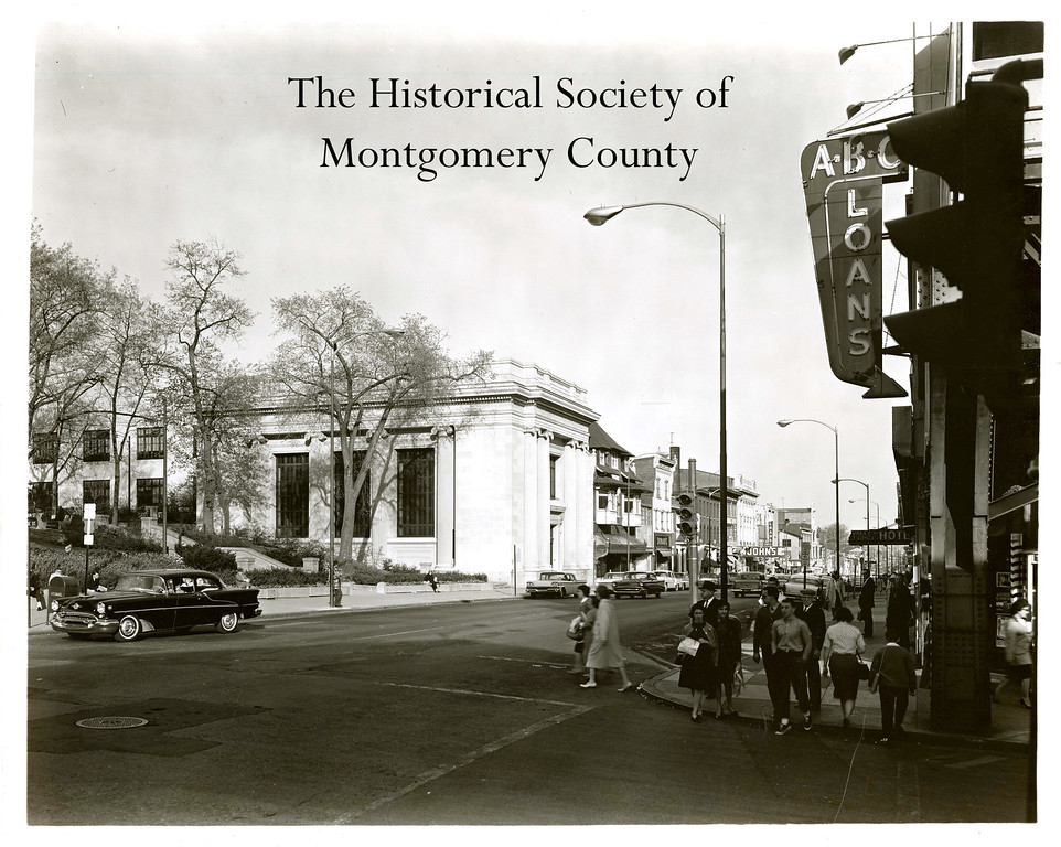 . This photo from the Historical Society of Montgomery County shows Montgomery Trust in the early 1960s. The Historical Society believes it was located on Swede Street.