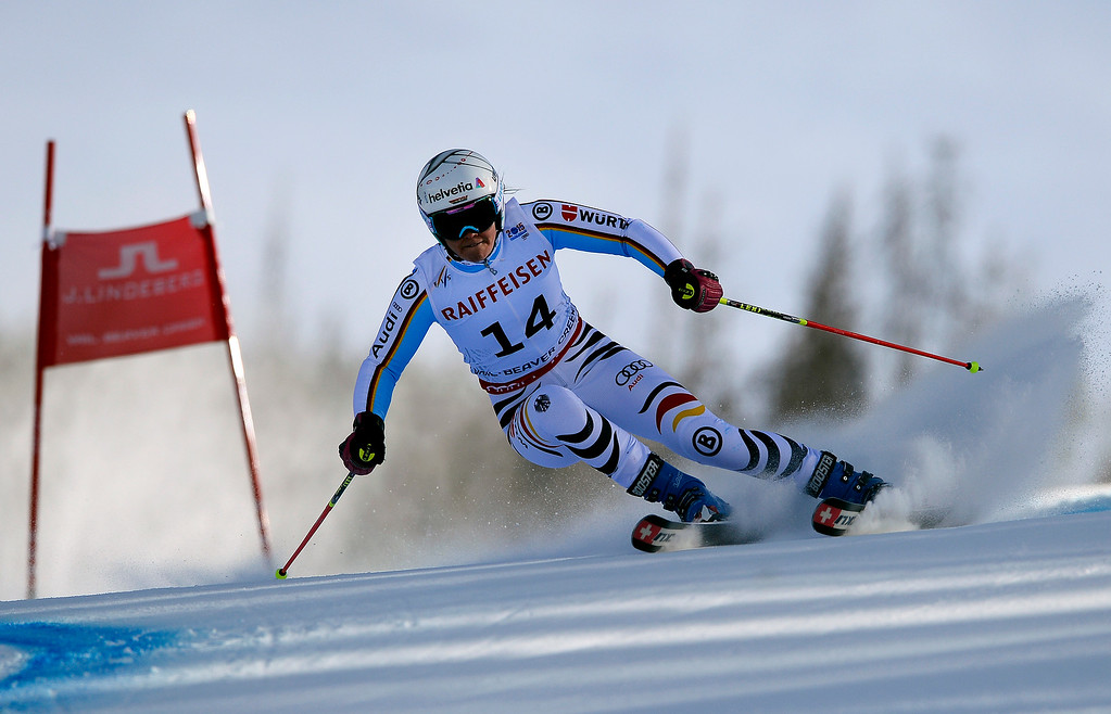 . BEAVER CREEK, CO - FEBRUARY 12: Viktoria Rebensburg of Germany competes in the second run of the Ladies Giant Slalom event at the FIS Alpine World Ski Championships in Beaver Creek, CO. February 12, 2015. (Photo By Helen H. Richardson/The Denver Post)