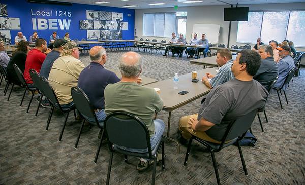 PG&E Gas Executive visit IBEW 1245