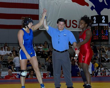 Women's Freestyle Championships 59 Kg: Erin Tomeo (Sunkist Kids) def Othella Lucas (New York Athletic Cl)  by Pin 2-0,1:54