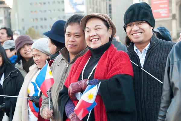 Philippine Flag Raising at FedSquare 2012