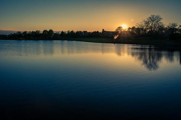 Sunset Naperville HDR