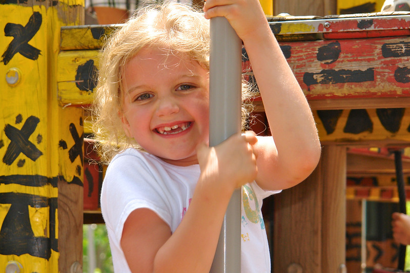 Maggie at the playground - 2