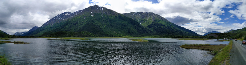 Where Sterling Highway meets the Seward Highway