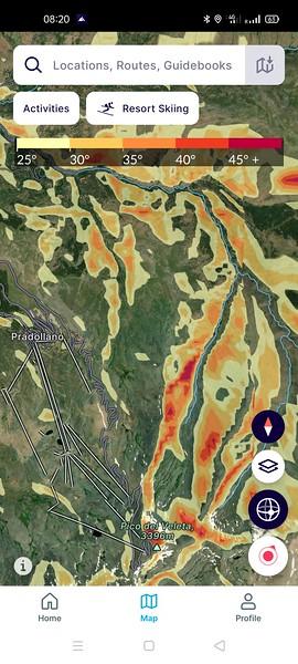 App FATMAP Sierra Nevada