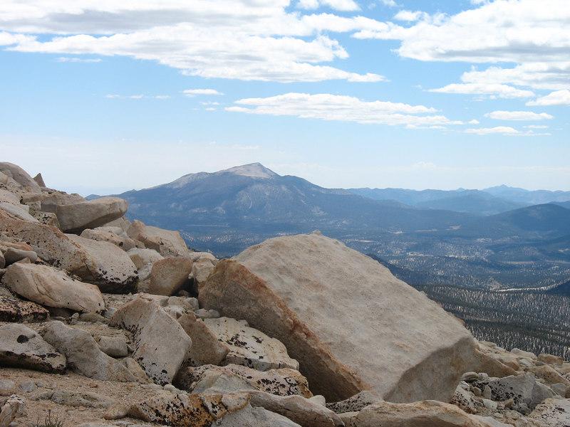 Zoomed in on Olancha Peak