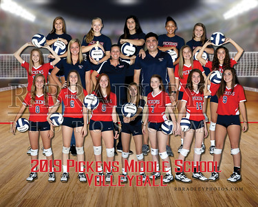 2019 Pickens Middle Volleyball