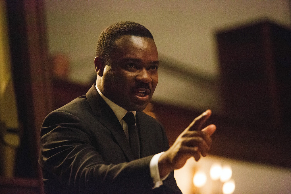""". In this image released by Paramount Pictures, David Oyelowo portrays Dr. Martin Luther King, Jr. in a scene from \""""Selma.\"""" Oyelowo was nominated for a Golden Globe for best actor in a drama for his role in the film on Thursday, Dec. 11, 2014. The 72nd annual Golden Globe awards will air on NBC on Sunday, Jan. 11. (AP Photo/Paramount Pictures, Atsushi Nishijima)"""