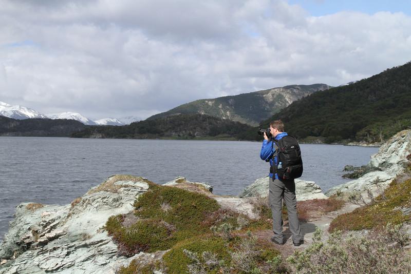 Framing a shot in Tierra Del Fuego National Park