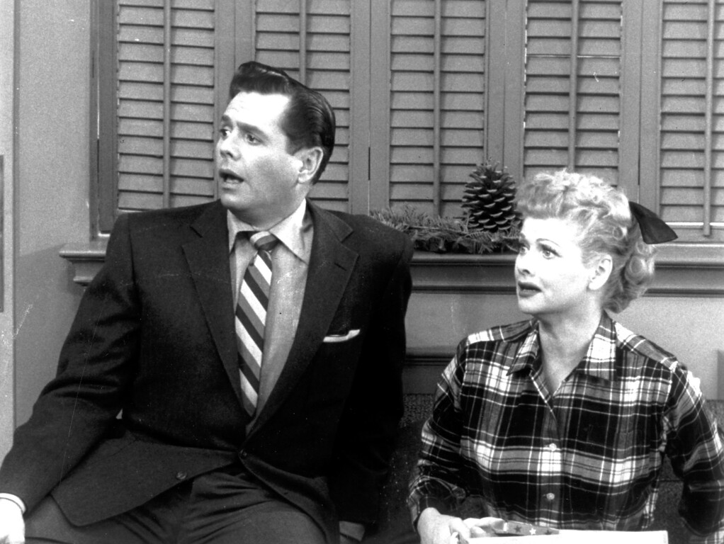 ". ""I Love Lucy\""  Ricky and Lucy Ricardo (Desi Arnaz and Lucille Ball)   Los Angeles Daily News file photo"