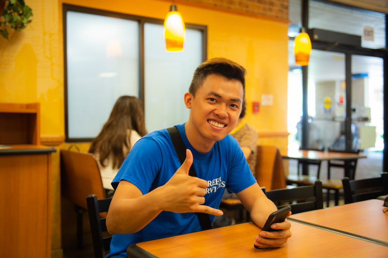 Trung Le at Subway.