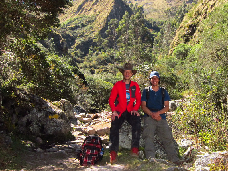 With Sergio my guide at the start of the hike to Pumahuanca Valley.