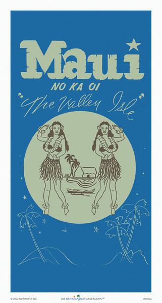 296: 'Maui No Ka Oi' Brochure Cover. Ca. 1927.