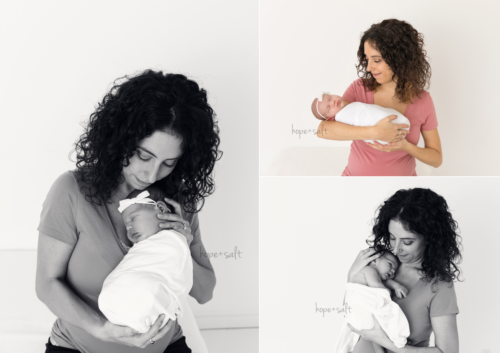 waterdown newborn photographer - in studio session for baby bianca and family simple natural timeless images by Hope and Salt