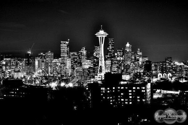Seattle @ Night From Queen Anne