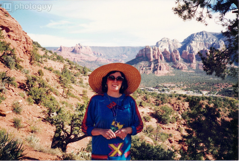 Up high overlooking the canyon Sedona, AZ date unknown