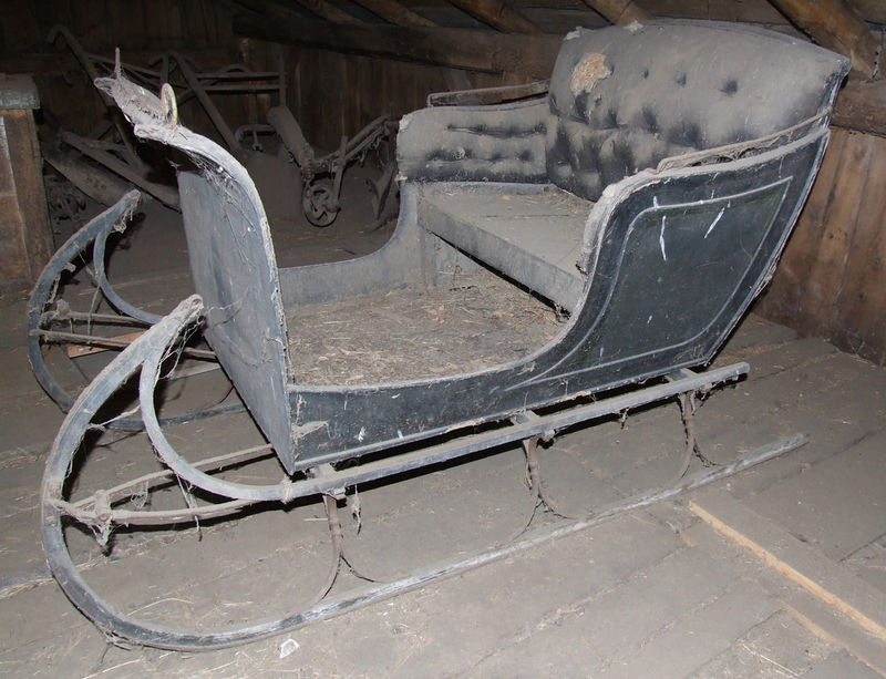 old sleigh in the barn