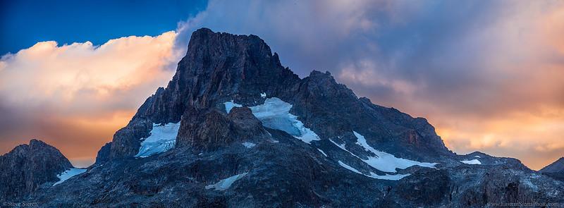 Banner Peak Panorama Eastern Sierra Ansel Adams Wilderness