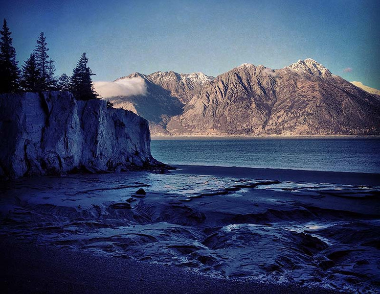 View of Turnagain Arm from Hope, Alaska (Photo: Kim Olson)