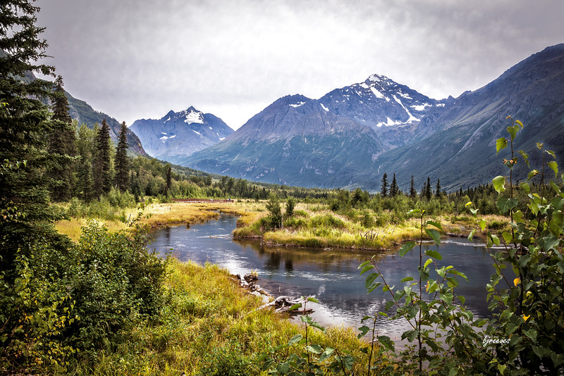 Eagle River Nature Center in the Chugach State Park,  Anchorage Alaska