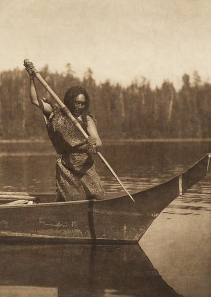 Harpooning (The North American Indian, v. XI. Cambridge, MA: The University Press, 1916)