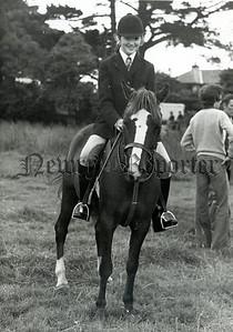 Miss Geraldine Toner and her pony Dingle