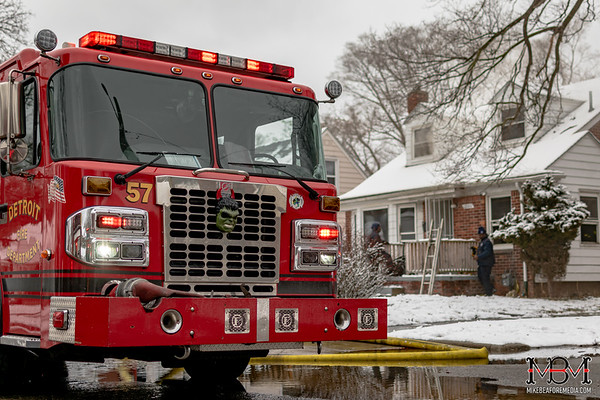Detroit MI, House Fire 2-26-2020