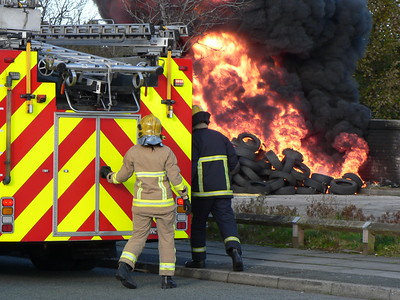 Fire in open, Bankhall, Merseyside - 04/11/2012