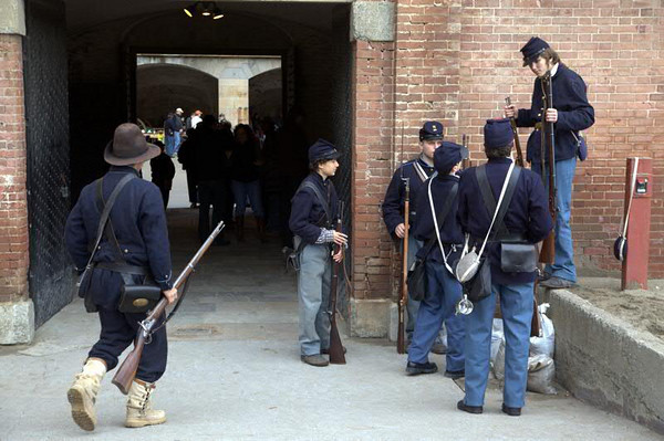 Civil War Reenactment at Fort Point, SF