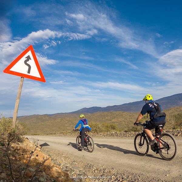 eBiking (mountain biking) near McGregor. Western Cape. South Africa