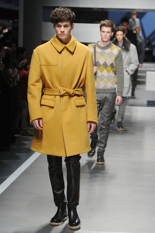 . A model walks the runway during the Fendi  show as part of Milan Fashion Week Menswear Autumn/Winter 2013 on January 14, 2013 in Milan, Italy  (Photo by Pier Marco Tacca/Getty Images)