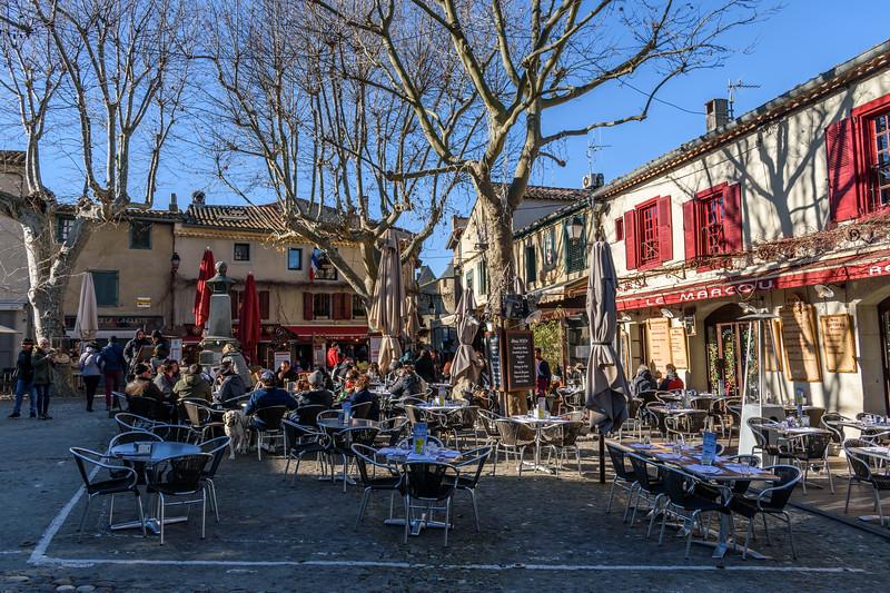 Square in the Cité de Carcassonne