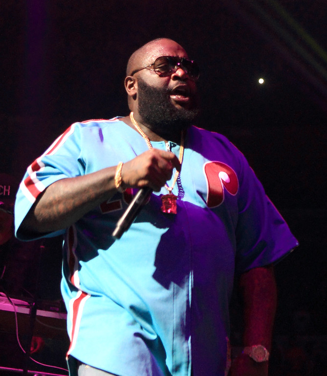 . Rick Ross performs during the Power 99 Powerhouse 2013 concert at the Wells Fargo Center on Friday, October 25, 2013, in Philadelphia. (Photo by Owen Sweeney/Invision/AP)