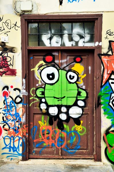 Doorways and Aerosol Art - Greece 2010