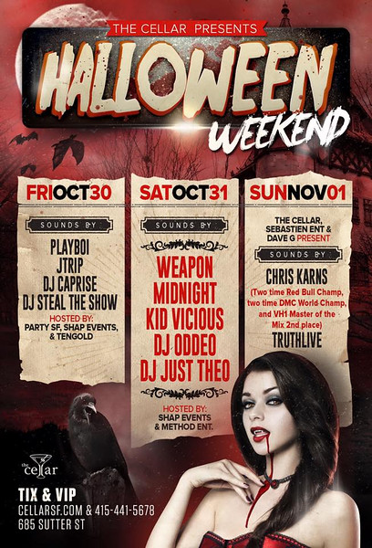 Halloween @ CellarSF 10.31