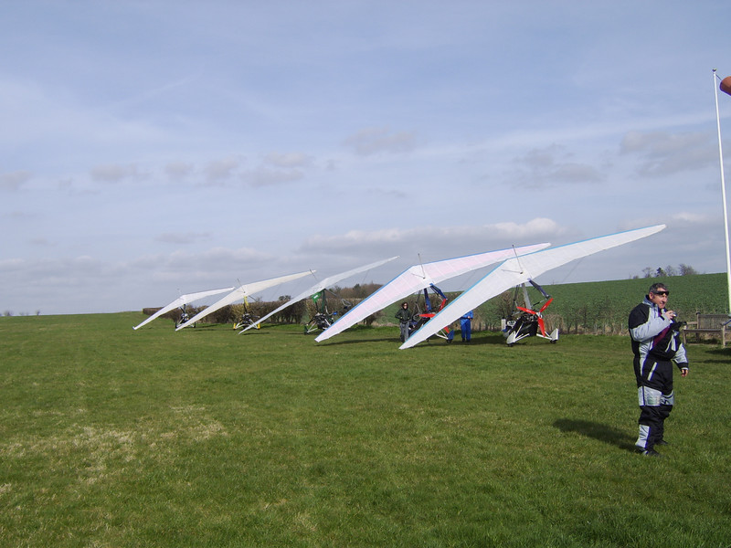 All Lined Up At Keyston Airfield