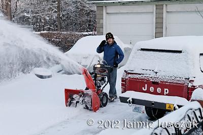 Snow in Warwick 20th January 2012