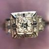 0.58ctw Old European Cut Diamond Art Deco Illusion Ring 13
