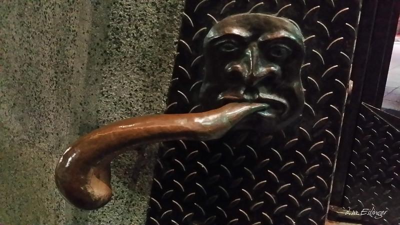 door handle to a pub in Brno